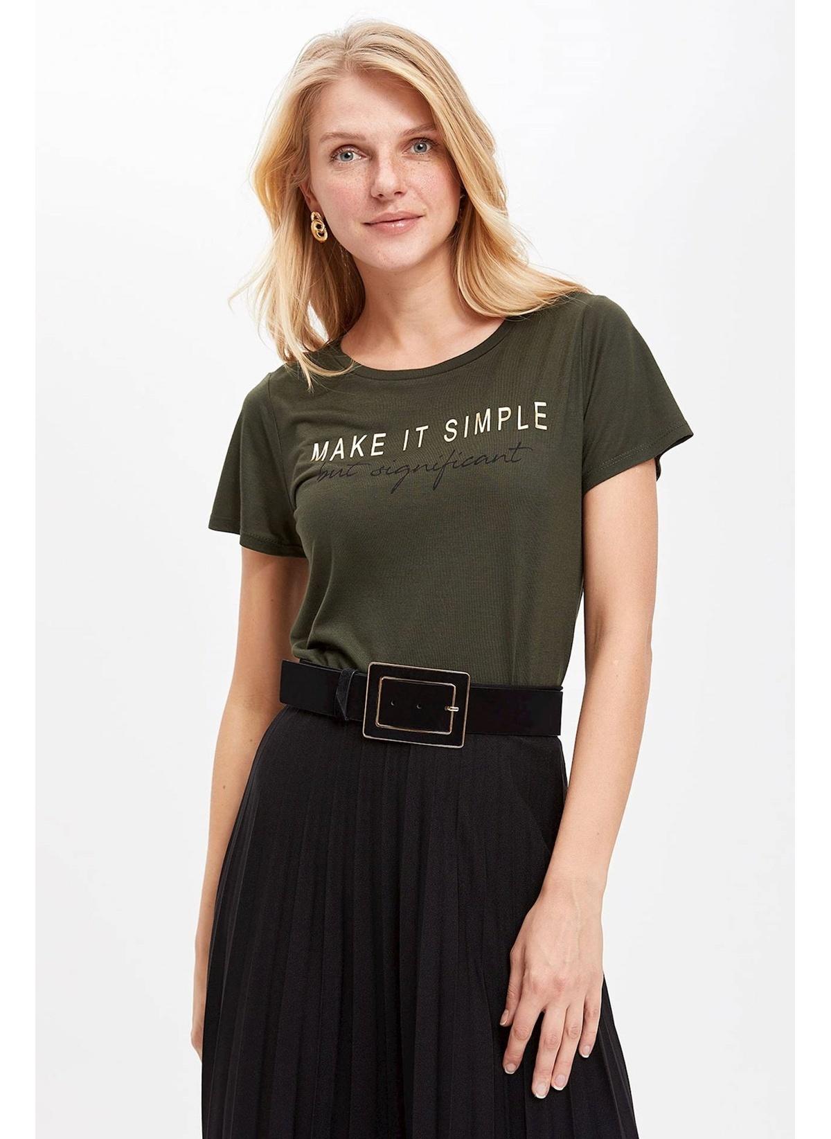 Defacto Slogan Baskılı Kısa Kollu T-shirt K5349az19spkh211t-shirt – 24.99 TL